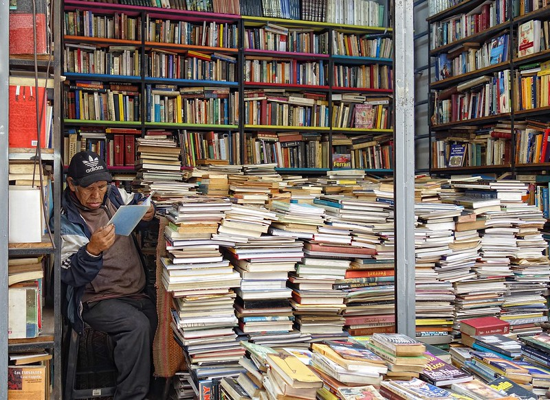 A bookstore in Lima, Peru. Credit txmx 2 via Flickr.
