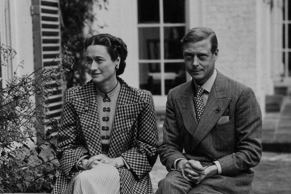 Wallis Simpson and Edward VIII. Photo by Getty Images.